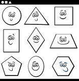 Formas geométricas básicas para colorear stock de ilustración