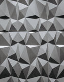Formas geométricas blancos y negros que consisten en del papel pintado abstracto o del fondo geométrico: triángulos y polígonos Fotografía de archivo libre de regalías