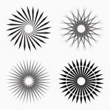 Formas geométricas circulares abstractas stock de ilustración