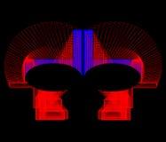 Formas geométricas coloreadas en un fondo negro Fotografía de archivo libre de regalías