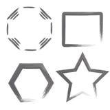 Formas geométricas de la acuarela Fotografía de archivo
