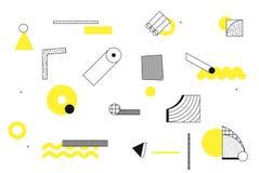 Formas geométricas de semitono de la tendencia universal fijadas libre illustration