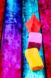 Formas geométricas del plasticine Imagen de archivo libre de regalías