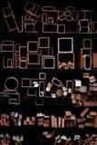 Formas geométricas del tubo del metal fotos de archivo libres de regalías