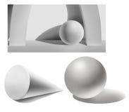 Formas geométricas del yeso Fotografía de archivo