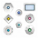 Formas geométricas futuristas abstractas Imagen de archivo libre de regalías