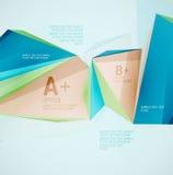 Formas geométricas no ar Sumário do vetor Imagens de Stock Royalty Free