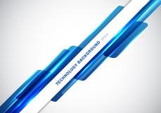 Formas geom?tricas brillantes azules del jefe del extracto que coinciden la presentaci?n futurista de mudanza del estilo de la te ilustración del vector