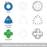Formas geométricas simples para los niños Foto de archivo
