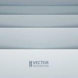 Formas grises y blancas abstractas del rectángulo Fotografía de archivo