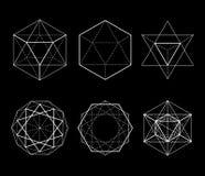 Formas hexagonales fijadas Foto de archivo libre de regalías