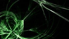 Formas ligeras geométricas del fondo de neón verde ilustración del vector