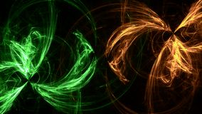 Formas ligeras geométricas del fondo de neón verde stock de ilustración