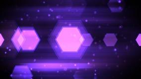 Formas móviles del hexágono ilustración del vector