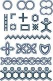 Formas metálicas ilustração royalty free
