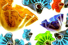 Formas mezcladas del vidrio de los colores Imagen de archivo libre de regalías