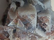 Formas naturais Minerais e texturas e fundos semipreciosos das pedras Fotografia de Stock Royalty Free