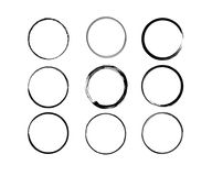 Formas negras del vector del círculo del vino stock de ilustración