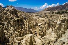 Formas originais dos penhascos das formações geological, parque do vale da lua, La imagem de stock