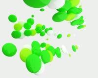 Formas ovais verdes abstratas isoladas Ilustração Stock