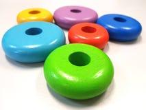 Formas ovales coloreadas primarias Fotos de archivo libres de regalías