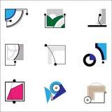 Formas para los anuncios ilustración del vector