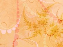 Formas pastel bege e cor-de-rosa Fotografia de Stock