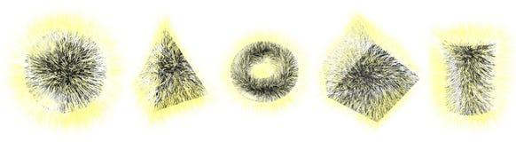 formas peludas 3D Imagen de archivo