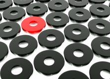 Formas pretas abstratas do anel Fotos de Stock Royalty Free