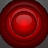 Formas redondas del metal rojo Fotos de archivo