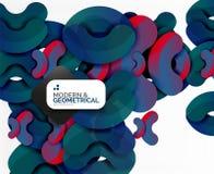 Formas redondas geométricas da cor abstrata no branco Imagem de Stock