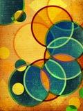 Formas retros abstratas ilustração do vetor