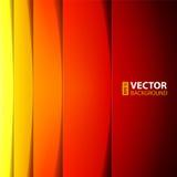 Formas rojas, anaranjadas y amarillas abstractas del rectángulo Foto de archivo