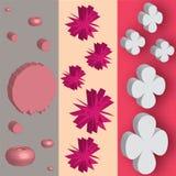 Formas rosadas con los efectos 3d Imagen de archivo libre de regalías