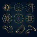 Formas sagradas de la geometría de líneas Imagen de archivo