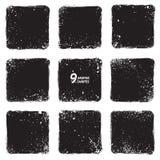 Formas textured vetor do Grunge Imagens de Stock