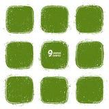 Formas verdes retras del vector del Grunge Fotografía de archivo libre de regalías