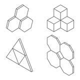 Formas y formas tridimensionales Fotos de archivo libres de regalías