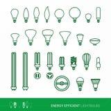 Formas y usos de los bulbos Foto de archivo