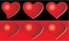 formatów serca ustawiają wektor sześć royalty ilustracja