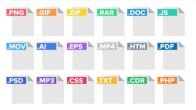 Format-Datei-Vektor Dokumenten-Piktogramm-Dateiformat-Symbol Modernes Piktogramm Ebene lokalisierte Illustration vektor abbildung
