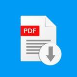 Format de fichier de PDF de téléchargement de vecteur de document de PDF Photos libres de droits