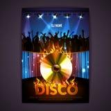 format disco dodatkowego tło Dyskoteka plakat royalty ilustracja