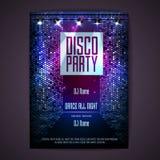 format disco dodatkowego tło Dyskoteka plakat ilustracja wektor