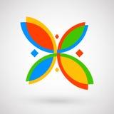 Format eps10 Abstrakt företags tecken för teknologi Arkivbild