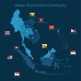 Format eps10 de la Communauté de sciences économiques d'ASEAN (l'AEC) Photo libre de droits