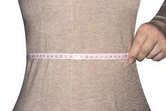 Format för kvinnamåttmidja arkivfoton