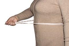 Format för kvinnamåttmidja arkivfoto