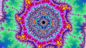 Format för upplösning för fantastisk abstrakt färgrik fractal för bakgrund för Digital universum högt stort mycket royaltyfri illustrationer