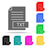 Format file txt icon. Elements in multi colored icons for mobile concept and web apps. Icons for website design and development, a. Pp development on white Stock Photography